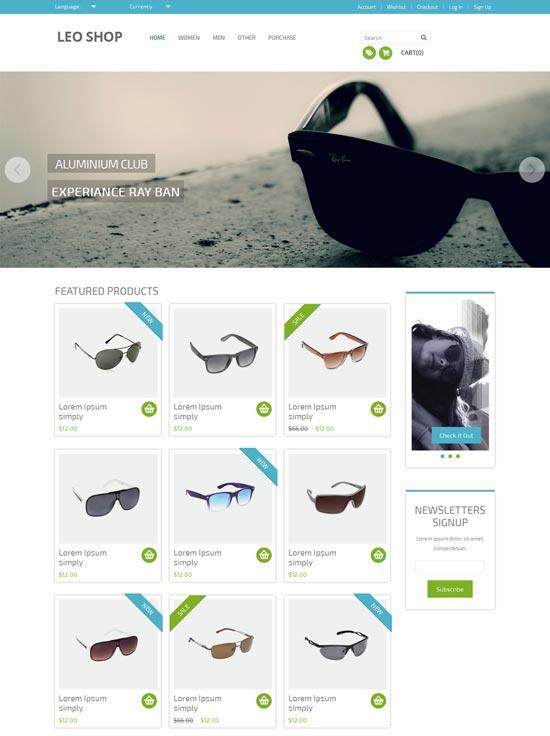 Leoshop-Free-Flat-Ecommerce-Responsive-Web-Template
