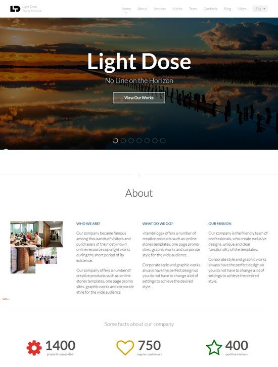 LightDose-Flat-Minimal-Responsive-HTML-Template