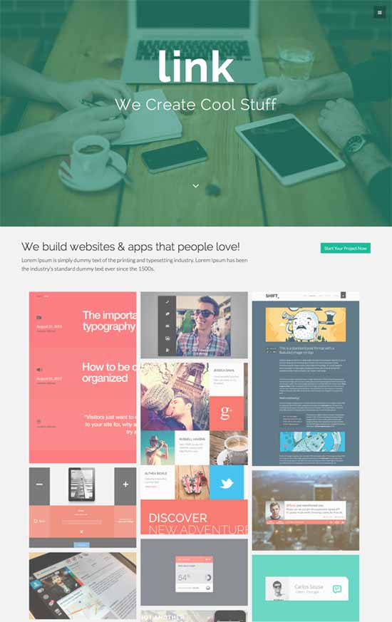 Link-Free-WordPress-theme-with-Bootstrap