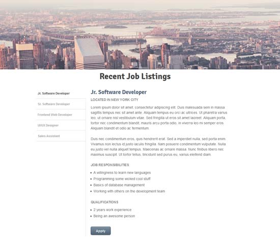 Listing-Widget-Using-CSS3-and-jQuery