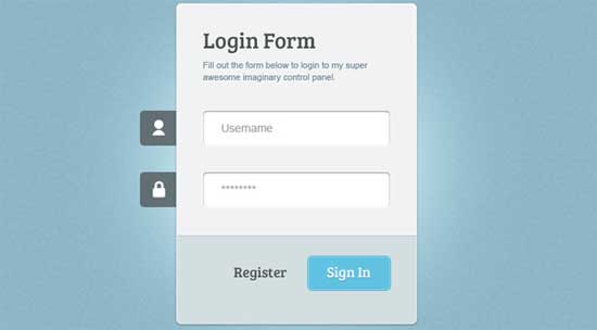Login Form Free Resource PSD HTML CSS3 jQuery