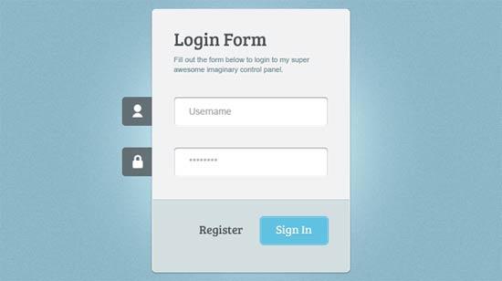 Login Form HTML/CSS3/jQuery