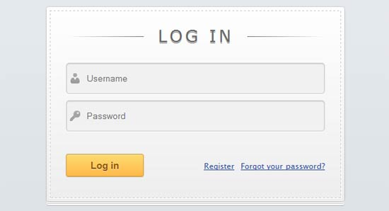 Login Form with HTML5