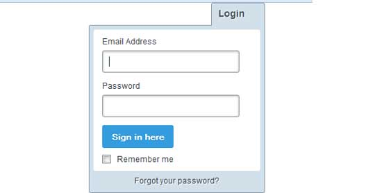Login template Using jQuery
