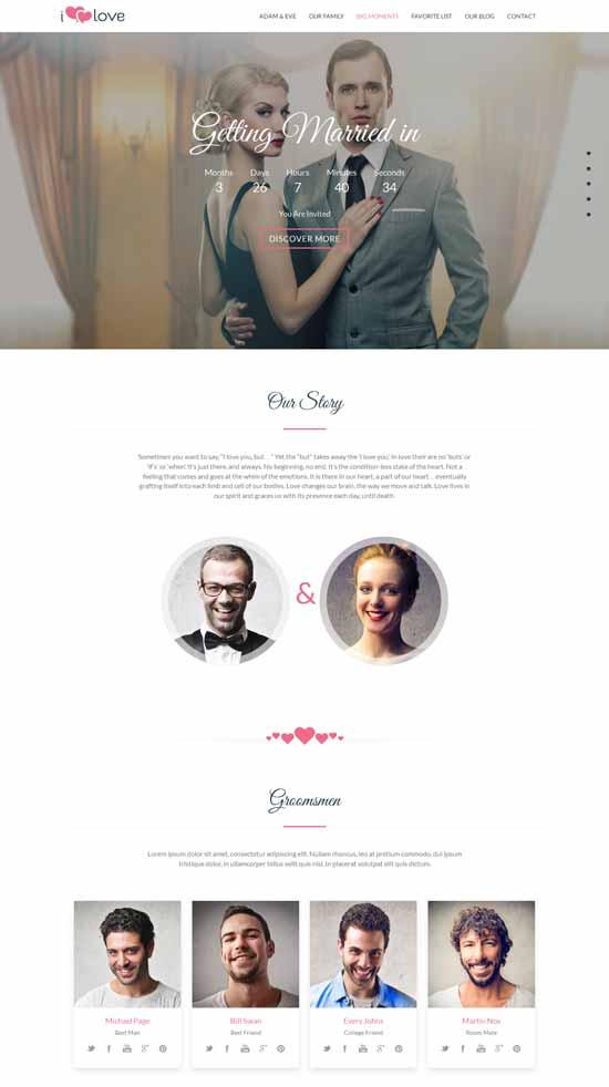 Love-Story-HTML-Wedding-Template