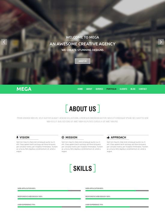 MEGA-responsive-onepage-Parallax-Template