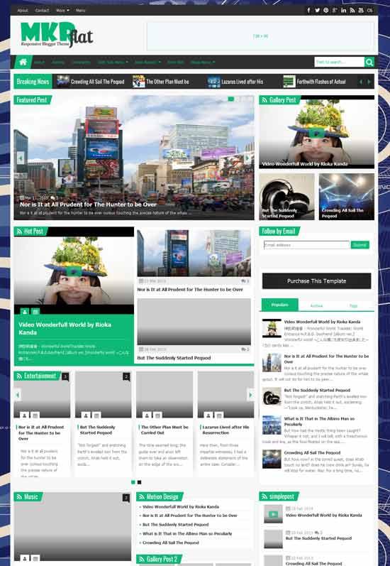 MKRflat-Responsive-Magazine-News-Blogger-Theme