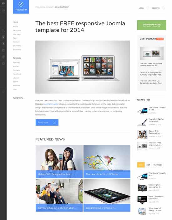 Magazine-Free-responsive-blog-or-news-Joomla-template