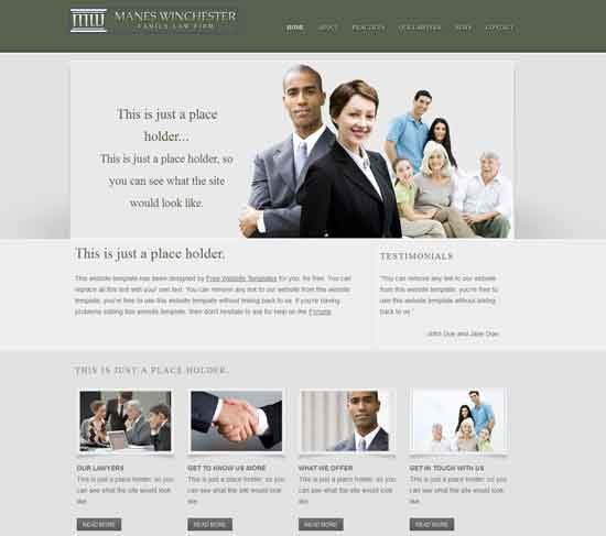 Manes Winchester Family free Law Firm Template