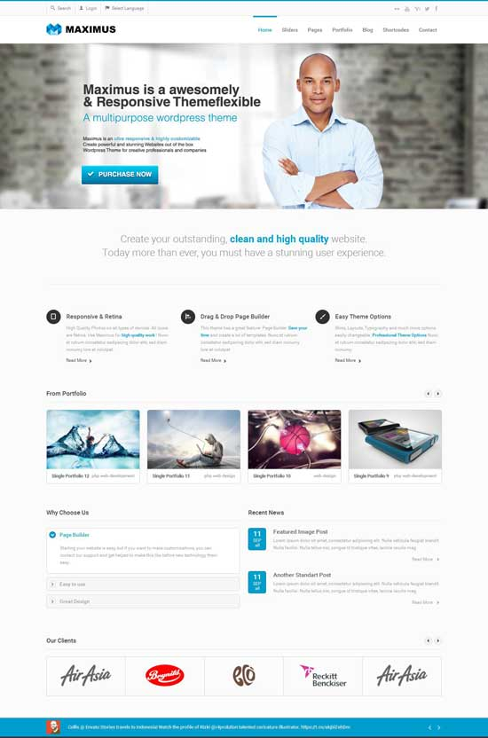 EXCEPTION Business HTML Template