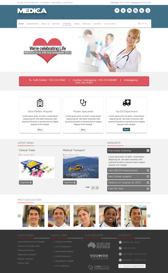 Medica-Responsive-Medical-Joomla-Theme