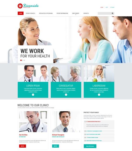 Medical Responsive Website Template 55547