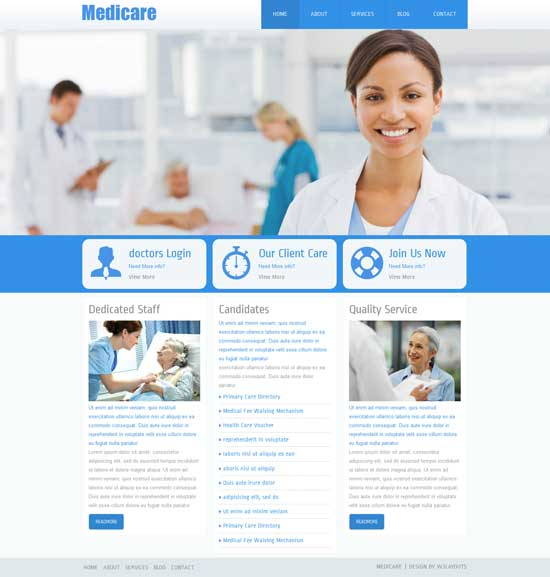 Medicare-Free-Hospital-Website-Template