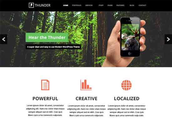 Thunder - A Free Mega PSD Website Template