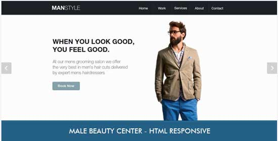 Men's Hair Salon - Beauty HTML Template