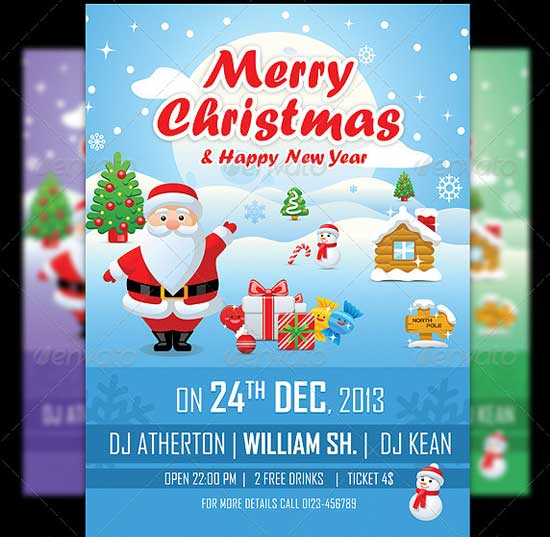 Merry Christmas Flyer Templates 2013