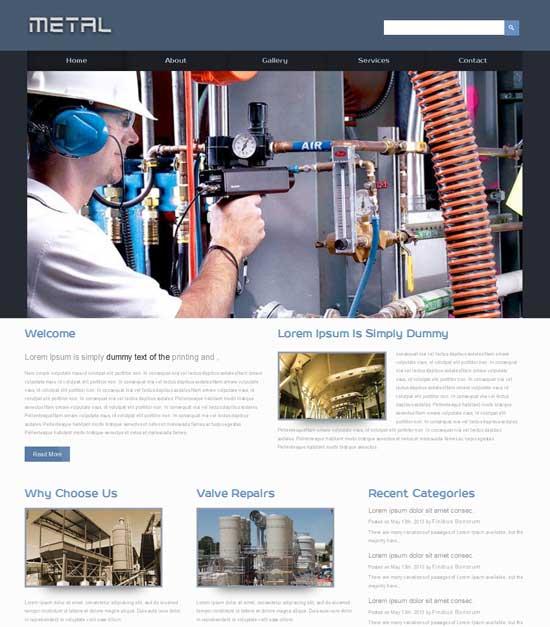 Metal-Free-Industrial-Website-Template