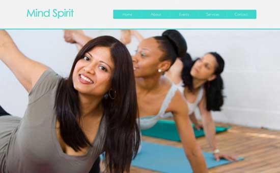 Mind Spirit - Free Fitness Gym Website Templates