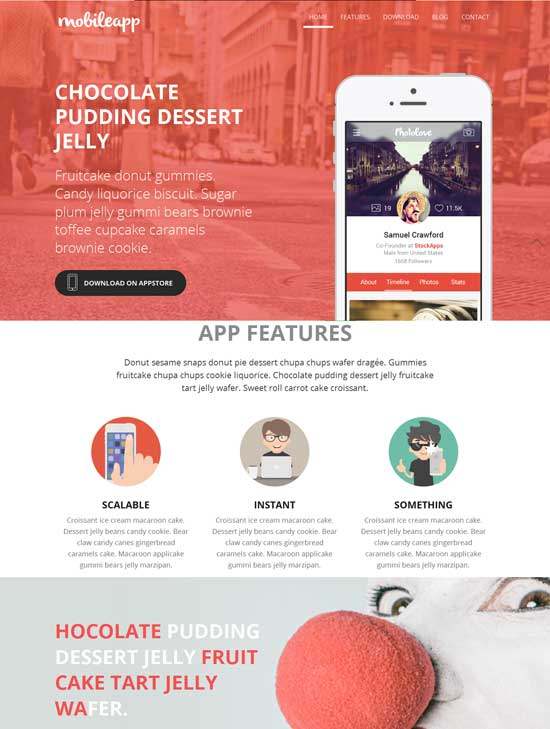 mobileapp marketing bootstrap 4 theme