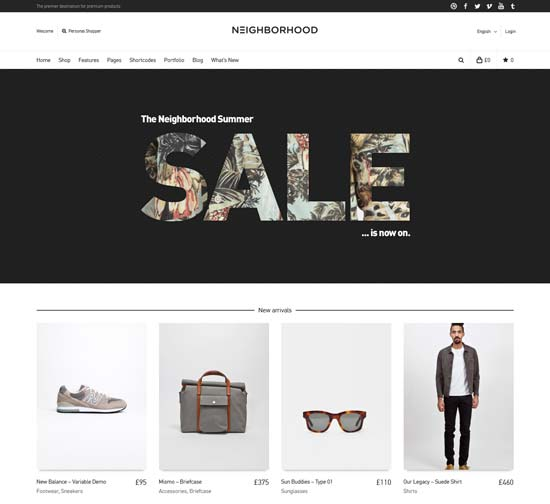 Neighborhood - Responsive WooCommerce Theme