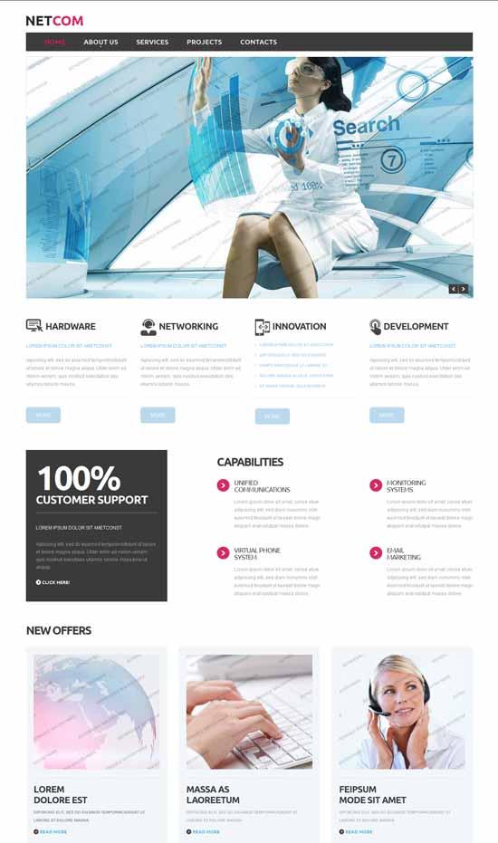 Netcom-IT-Company-Responsive-Website-Template