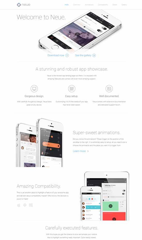 Neue-App-Landing-Page-template