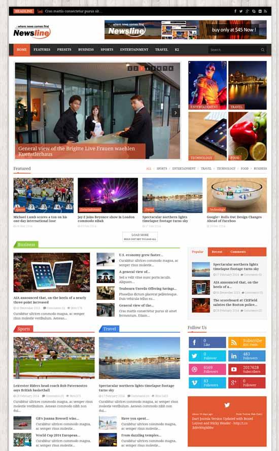Newsline-Responsive-Magazine-Joomla-Template