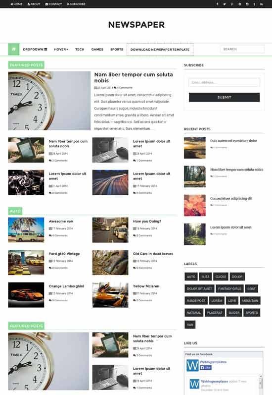 Newspaper-news-Responsive-Blogger-Template