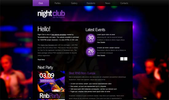 Free Night Club HTML5