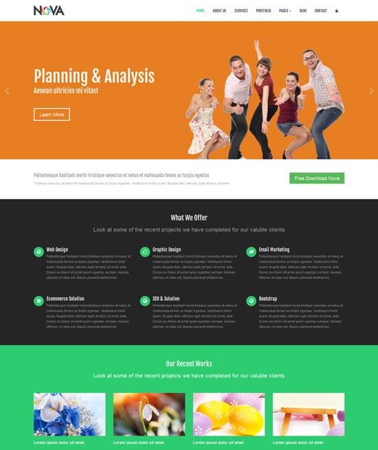 nova free multipurpose site template