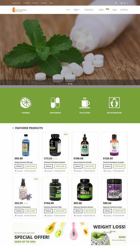 Nutrition-Supplements-WooCommerce-Theme