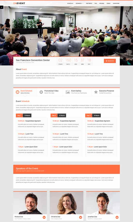 OnEvent-Special-Event-Landing-Page