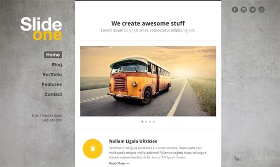 WP One Page Parallax portfolio WordPress theme
