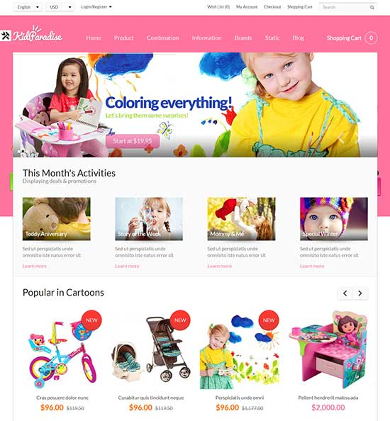 Opencart-Kid-Store-Theme