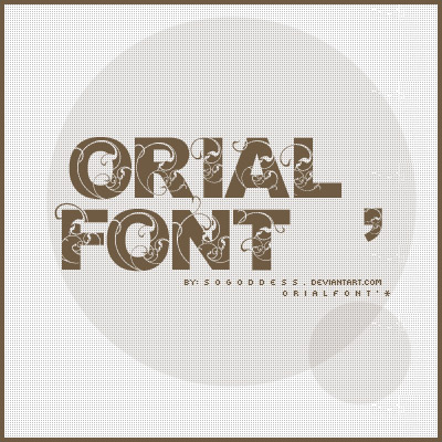 Orial cool free fonts