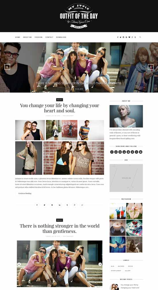Outfit-Fre-Clean-Responsive-Blogger-Template