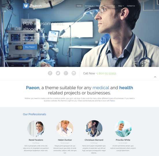 Paeon-Medical WordPress Theme