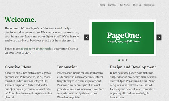 free PageOne Design Studio