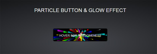Particle Button & Glow effect