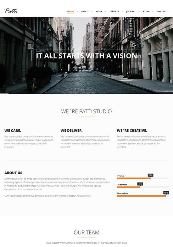 Patti-Parallax-One-Page-WordPress-Theme