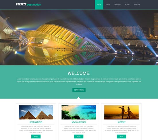 Perfect Destination a travel guide Website Template