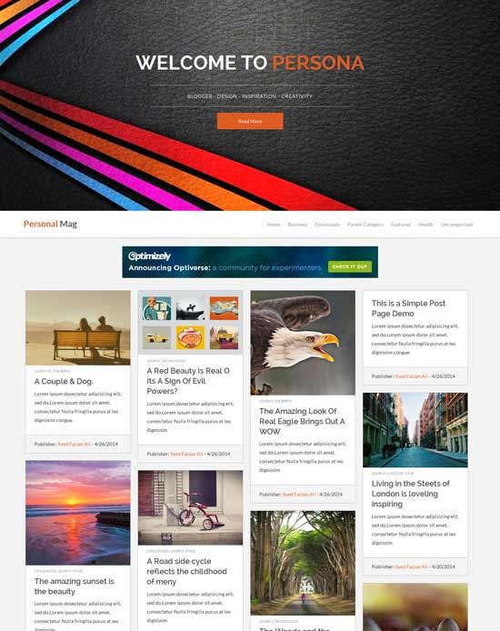 Personal-Mag-Blogger-Template