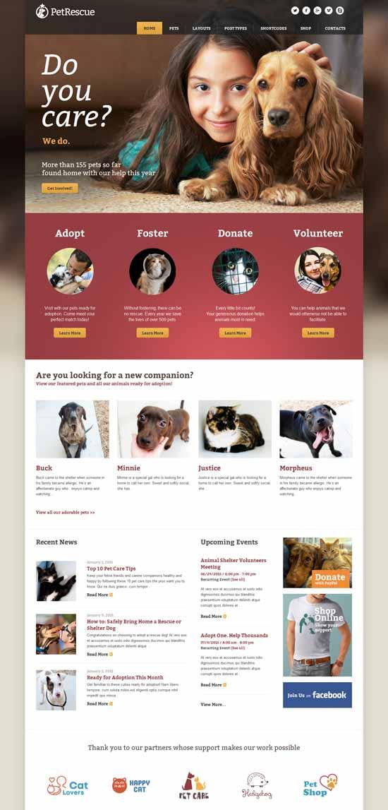 Pet-Rescue-Animals-WP-Theme