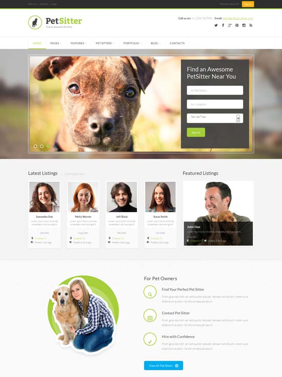 Pet-Sitter-Responsive-HTML5-CSS3-Template