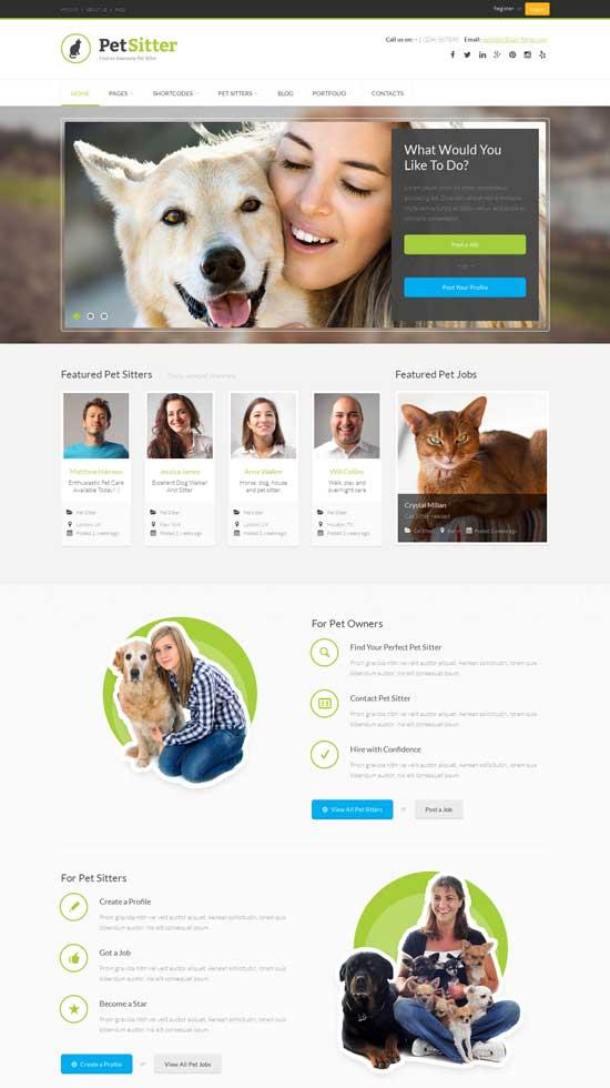 PetSitter-Job-Board-Responsive-WordPress-Theme