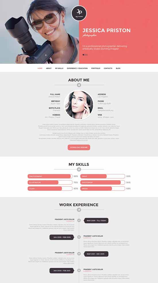 Photographer-CV-WordPress-Theme