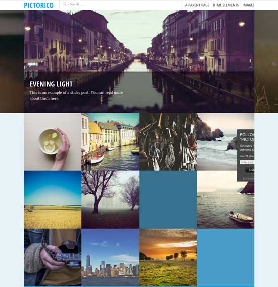 pictorico wordpress gallery theme