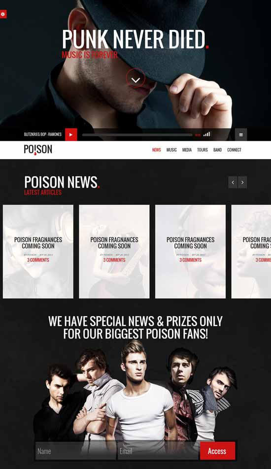 Poison-Music-HTML-One-Page-Template