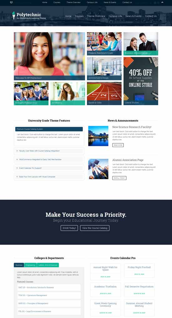 Powerful Education WordPress Themes