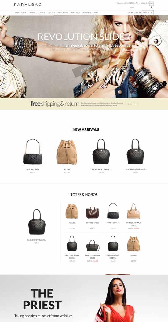 Prestashop-Fashion-Bag-Store-Parallax